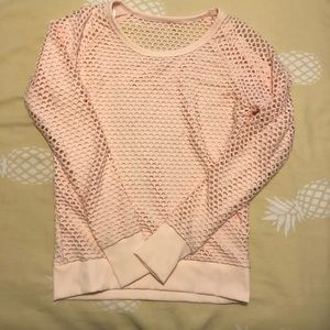 Lorna Jane Pink Long Sleeve Mesh Pullover